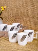 Coffee Mug Fine porcelain Mug with real gold print (Set of 6 Pcs) DPCM-33