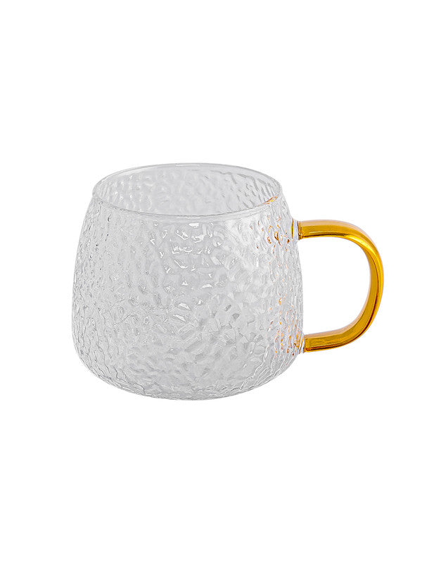 Glass Mug with Color Handle (Set of 2pcs) GPB40-2