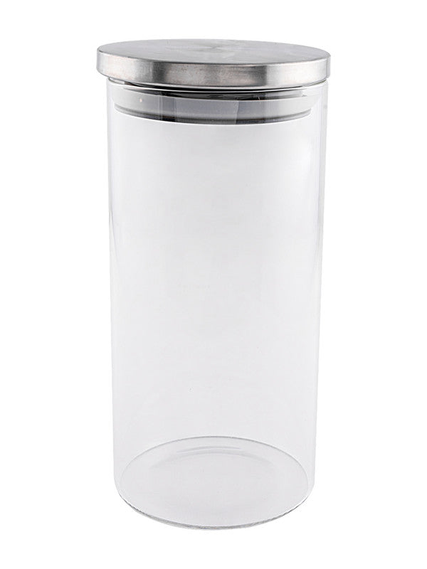 Borosilicate Glass Airtight Jar with Metal Lid (Set of 2pcs) GPG10-1400-SS-2