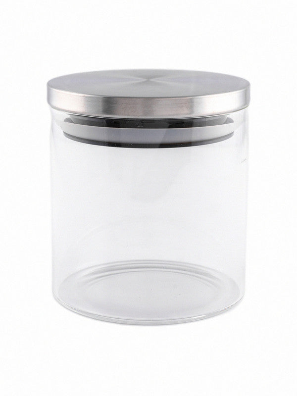 Borosilicate Glass Airtight Jar with Metal Lid (Set of 3pcs) GPG10-685-SS-3