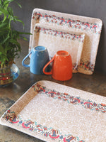 GOODHOMES  Melamine Serving Tray Set ( Set of 3 Trays) - Gdh-Try-12