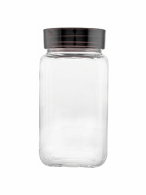 GOODHOMES Glass Square Jar (Set of 2pcs) HMFG56S-1800-2