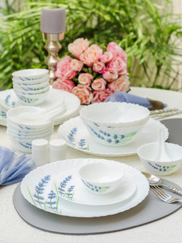 La Opala English Lavender Opalware Dinner Set (Set of 35 pcs) LOP-ELDS35P