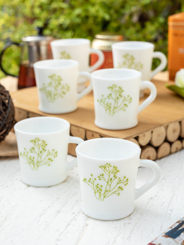 LaOpala Opalware Tea Cups/ Coffee Mugs ( Set of 12 Mugs) LOP-FBG-CM-12