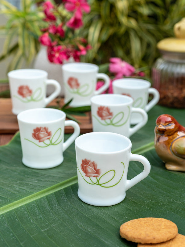 LaOpala Opalware Tea Cups/ Coffee Mugs ( Set of 6 Mugs) LOP-FDS-CM-6