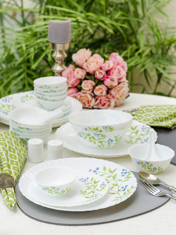 La Opala Lush Greens Opalware Dinner Set (Set of 35 pcs) LOP-LGDS35P