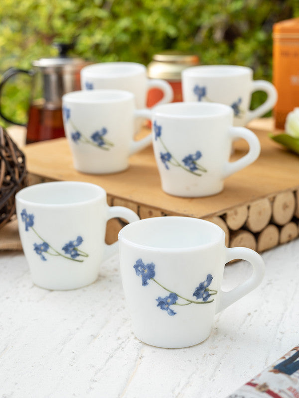 Opalware Tea Cups/ Coffee Mugs ( Set of 6 Mugs) LOP-MBO-CM-6