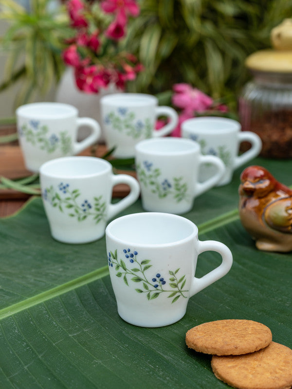 LaOpala Opalware Tea Cups/ Coffee Mugs ( Set of 6 Mugs) LOP-MLG-CM-6