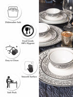 LaOpala Sovrana Persian Gray Dinner Set (Set of 33pcs) LOP-SPG-DS33P