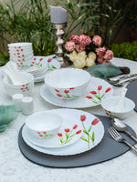 La Opala Radiant Curves Opalware Dinner Set (Set of 35 pcs) LOPRCDS29P-6