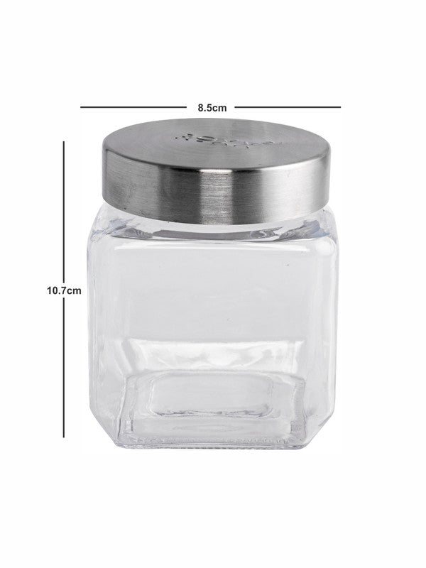 Glass Storage Square Jar (Set of 4pcs) ROXX-1677-2