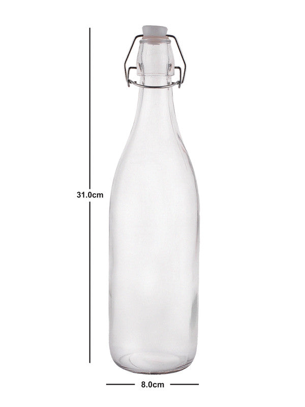 ROXX Glass Bottle with Airtight Flip Swing Cap for Water ( Set of 3pcs) RX-2282-3