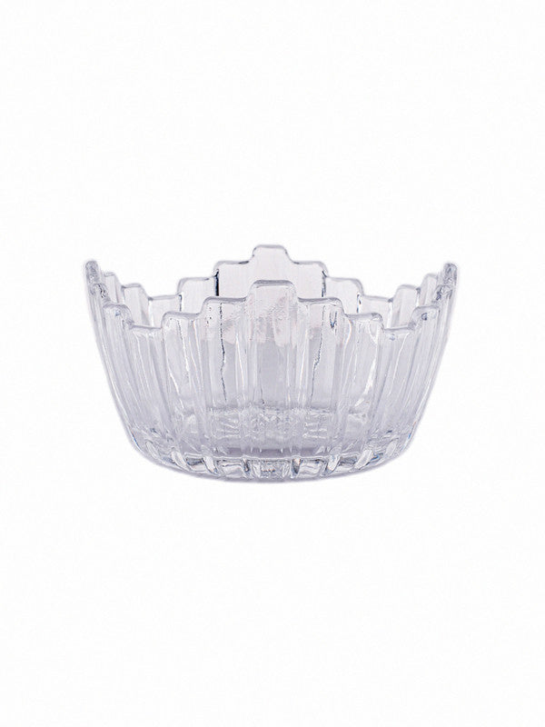Glass Leaf Bowl Set (Set of 4pcs) RX-3356-2