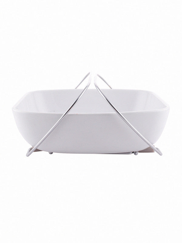 Porcelain Multipurpose Bowl with Steel Handle SS-MPBWH