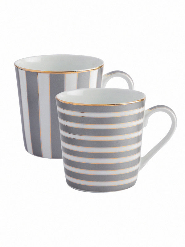 Bone China Tea Cups/Coffee Mugs (Set of 2 pcs) STIFAN-HG-02-BLACK