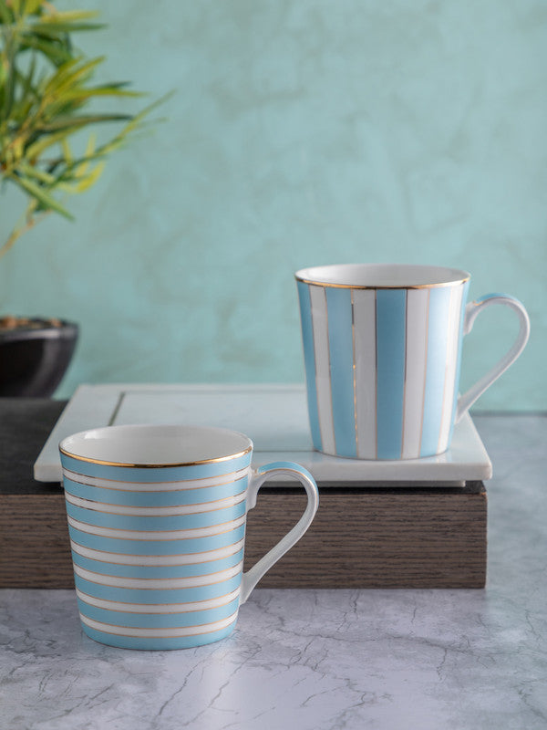SONAKI Bone China Tea Cups/Coffee Mugs (Set of 2 pcs) STIFAN-HG-02-MINTGREEN