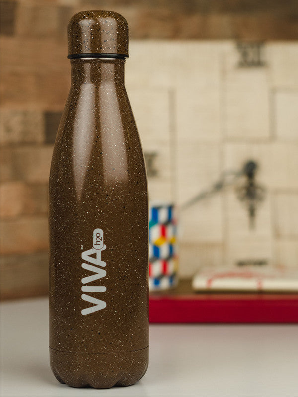VIVA h2o Double Wall Stainless Steel Vacuum Insulated Water Bottle VH-5017-BROWN