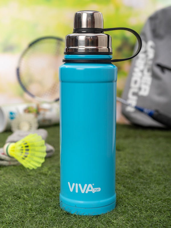 VIVA h2o Double Wall Stainless Steel Vacuum Insulated Water Bottle VH5053-BLUE