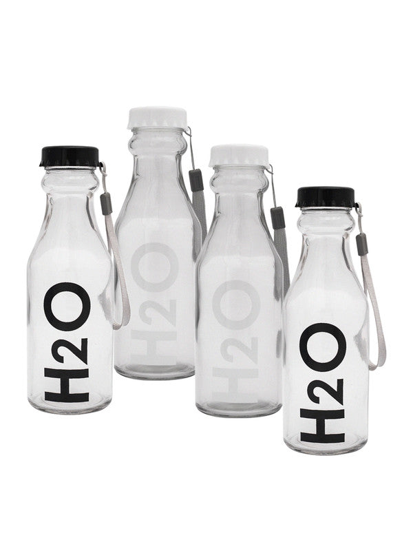Glass Bottles with Airtight Cap for Water, Juice ( Set of 4 pcs) WG-11115-11116-4