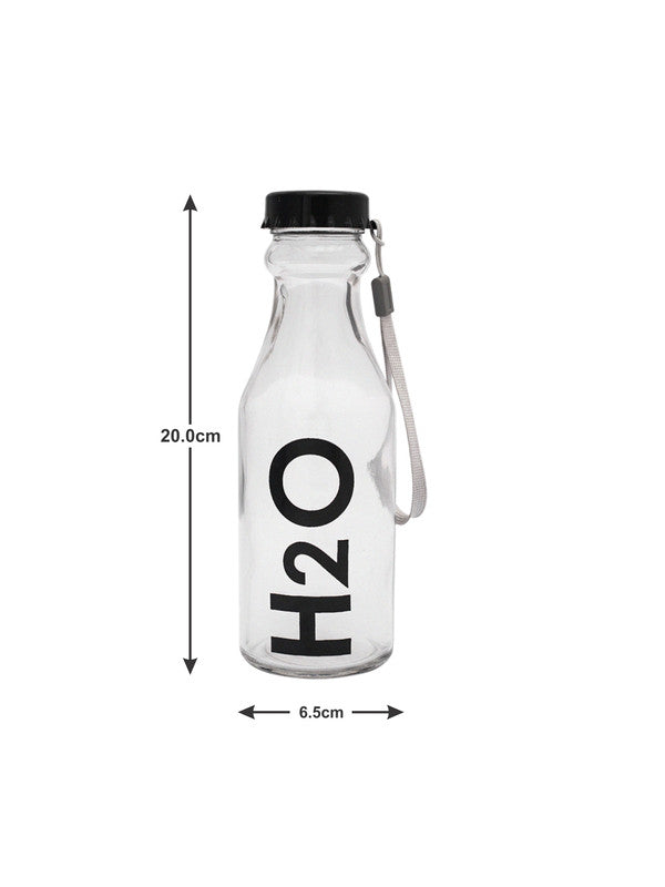 WHITEGOLD Glass Bottles with Airtight Cap for Water, Juice ( Set of 4 pcs) WG-11115-11116-4