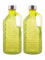 WHITE GOLD Airtight Glass Bottle (Set of 2pcs) WG-11144-G-2