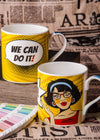 Bone China Mug Set with We Can Do It! Slogan ( Set of 4 Cup ) ZOE-MM-16