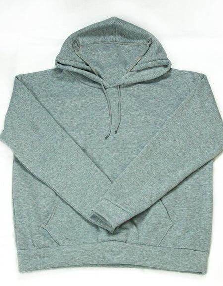Hooded Sweatshirt with Built-In Mask - Grey