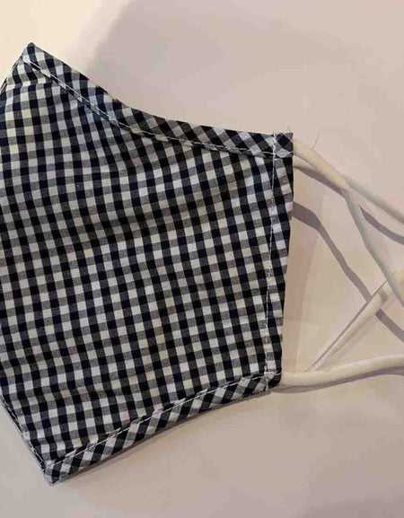 Black and White Checkered Cotton