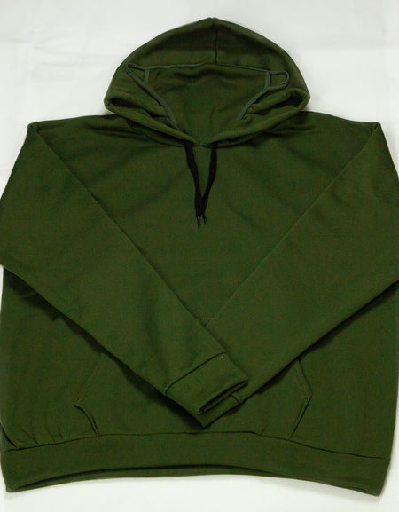 Hooded Sweatshirt with Built-In Mask - Green