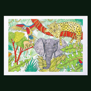 """Jungle Home"" A3 Print by Ross Carvill"