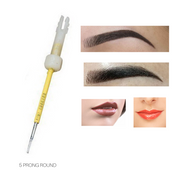Biotouch Sterilized 5 PRONG NEEDLE ROUND for Mosaic Microblading Machine