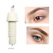 Biotouch Microblading FT 9 Prong SLANTED Threaded Screw-On Needle