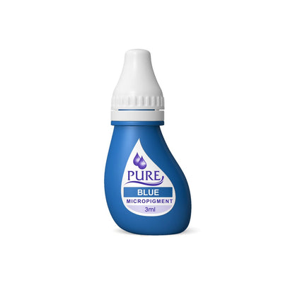 BioTouch Permanent Makeup Pure Line MicroPigment Cosmetic Color - Pure Blue 3ml [6 Bottles Per Box]