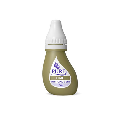 BioTouch Permanent Makeup Pure Line MicroPigment Cosmetic Color - Pure Lime 3ml [6 Bottles Per Box]