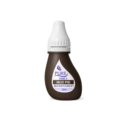 BioTouch Permanent Makeup Pure Line MicroPigment Cosmetic Color - Pure Mud Pie 3ml [6 Bottles Per Box]
