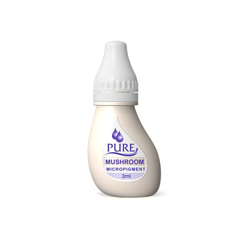 BioTouch Permanent Makeup Pure Line MicroPigment Cosmetic Color - Pure Mushroom 3ml [6 Bottles Per Box]
