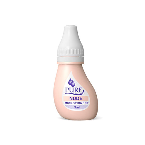 BioTouch Permanent Makeup Pure Line MicroPigment Cosmetic Color - Pure Nude 3ml [6 Bottles Per Box]