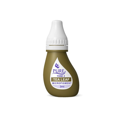 BioTouch Permanent Makeup Pure Line MicroPigment Cosmetic Color - Pure Tea Leaf 3ml [6 Bottles Per Box]