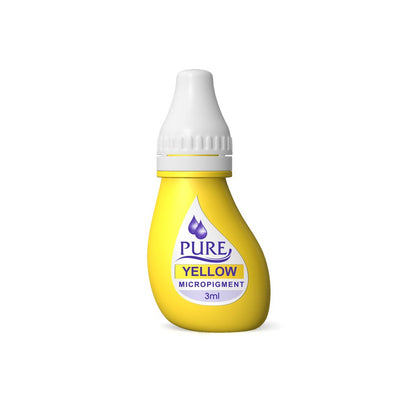 BioTouch Permanent Makeup Pure Line MicroPigment Cosmetic Color - Pure Yellow 3ml [6 Bottles Per Box]