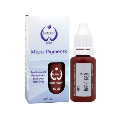 BioTouch Permanent Makeup MicroPigment Cosmetic Color - Dark Red 1/2oz