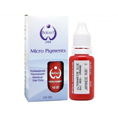 BioTouch Permanent Makeup MicroPigment Cosmetic Color - JAPANESE RUBY 1/2oz