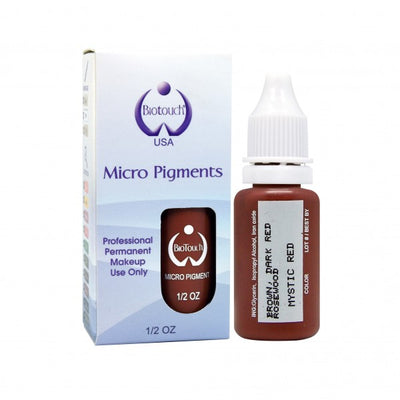 BioTouch Permanent Makeup MicroPigment Cosmetic Color - MYSTIC RED 1/2oz