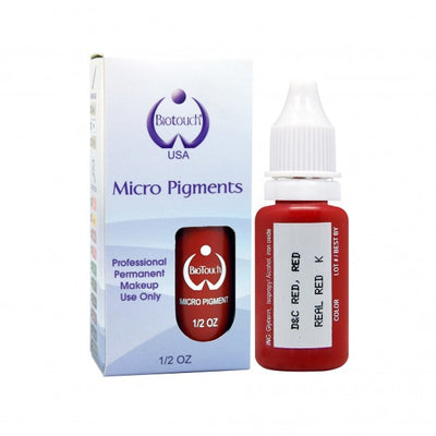 BioTouch Permanent Makeup MicroPigment Cosmetic Color - Real Red 1/2oz