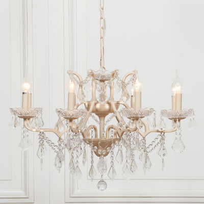 Rocroi Creme 8 Branch Chandelier - Husoe Home