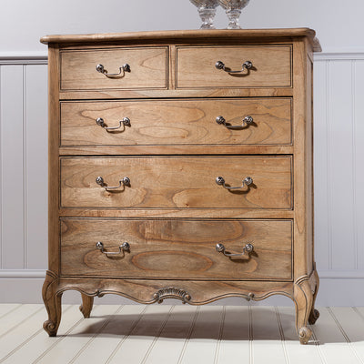Debonair 5 Drawer Chest Chestnut - Husoe Home