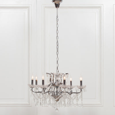 Langres Chrome 8 Branch Chandelier - Husoe Home