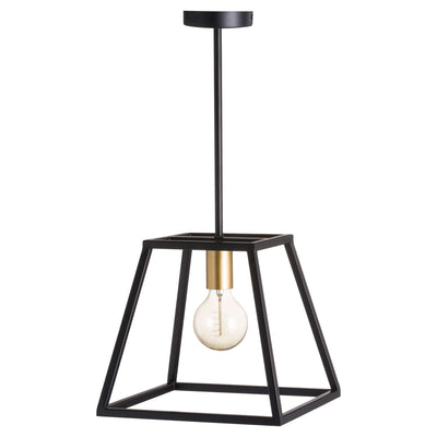 Black And Brass Piped Pendant Light - Husoe Home