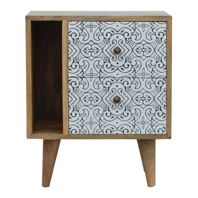 Meander Porcelain Pattern Mini Cabinet - Husoe Home