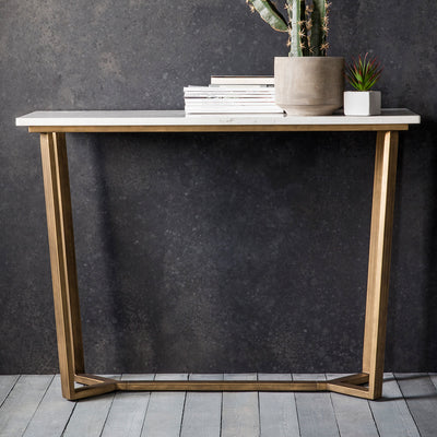 Blanco Cara - Marble Console Table - Husoe Home