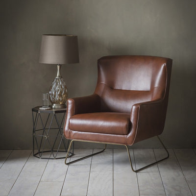 Moire Leather Lounge Chair - Husoe Home